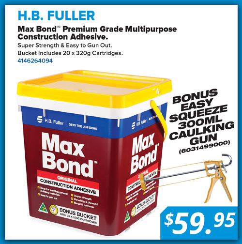 Natbuild April special Maxbond construction adhesive