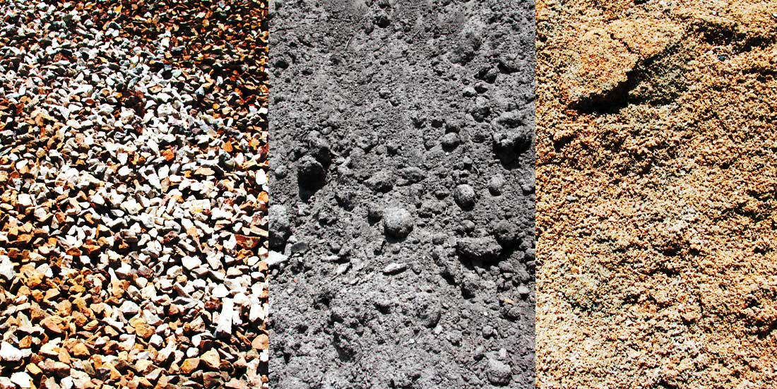 three types of bulk soils